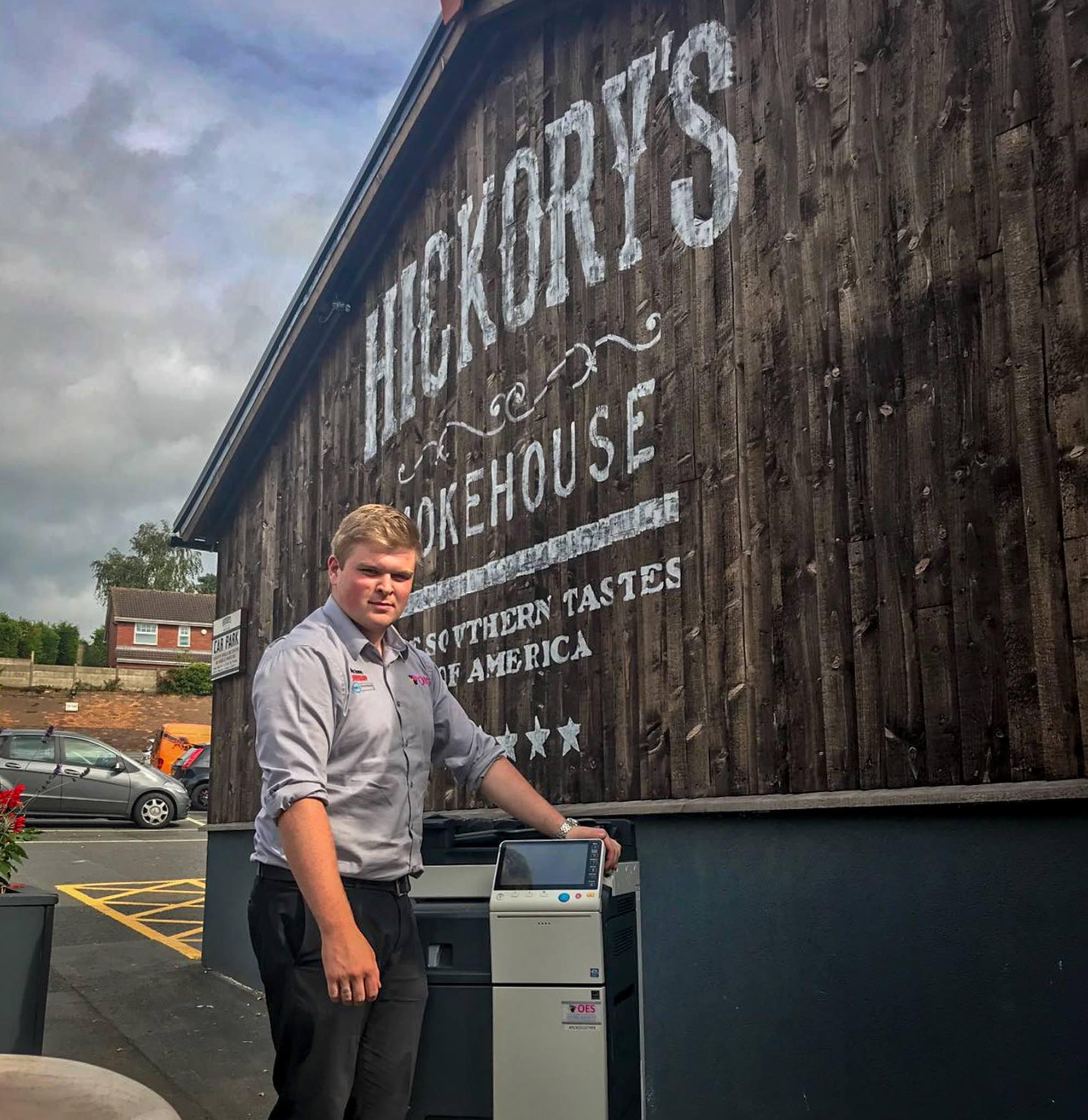 Photocopier install at Hickory's