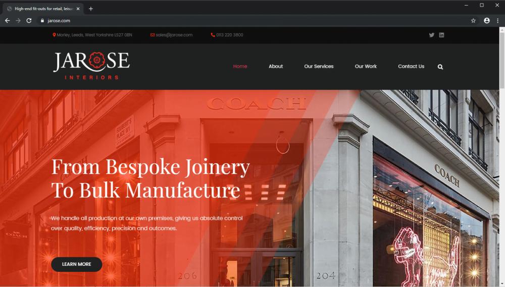 Jarose Interiors brochure website