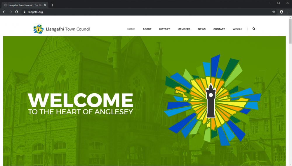 Llangedni Town Council bilingual brochure website