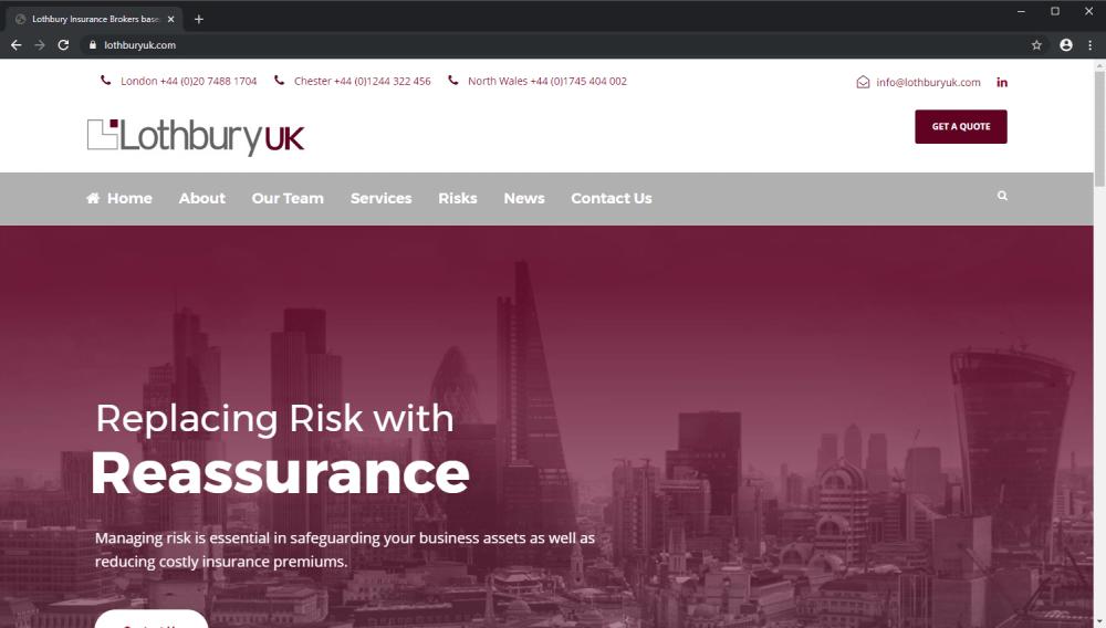 Lothbury UK Insurance Brokers website screenshot