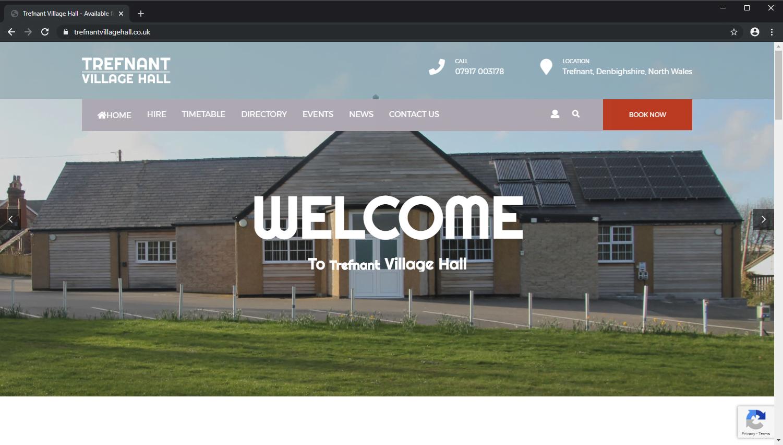 Trefnant Village Hall brochure website screenshot