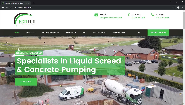 Ecoflo Screed brochure website