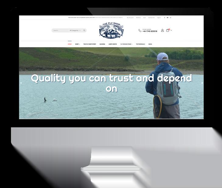 The Fly Shop Ecommerce. Web Design Mockup