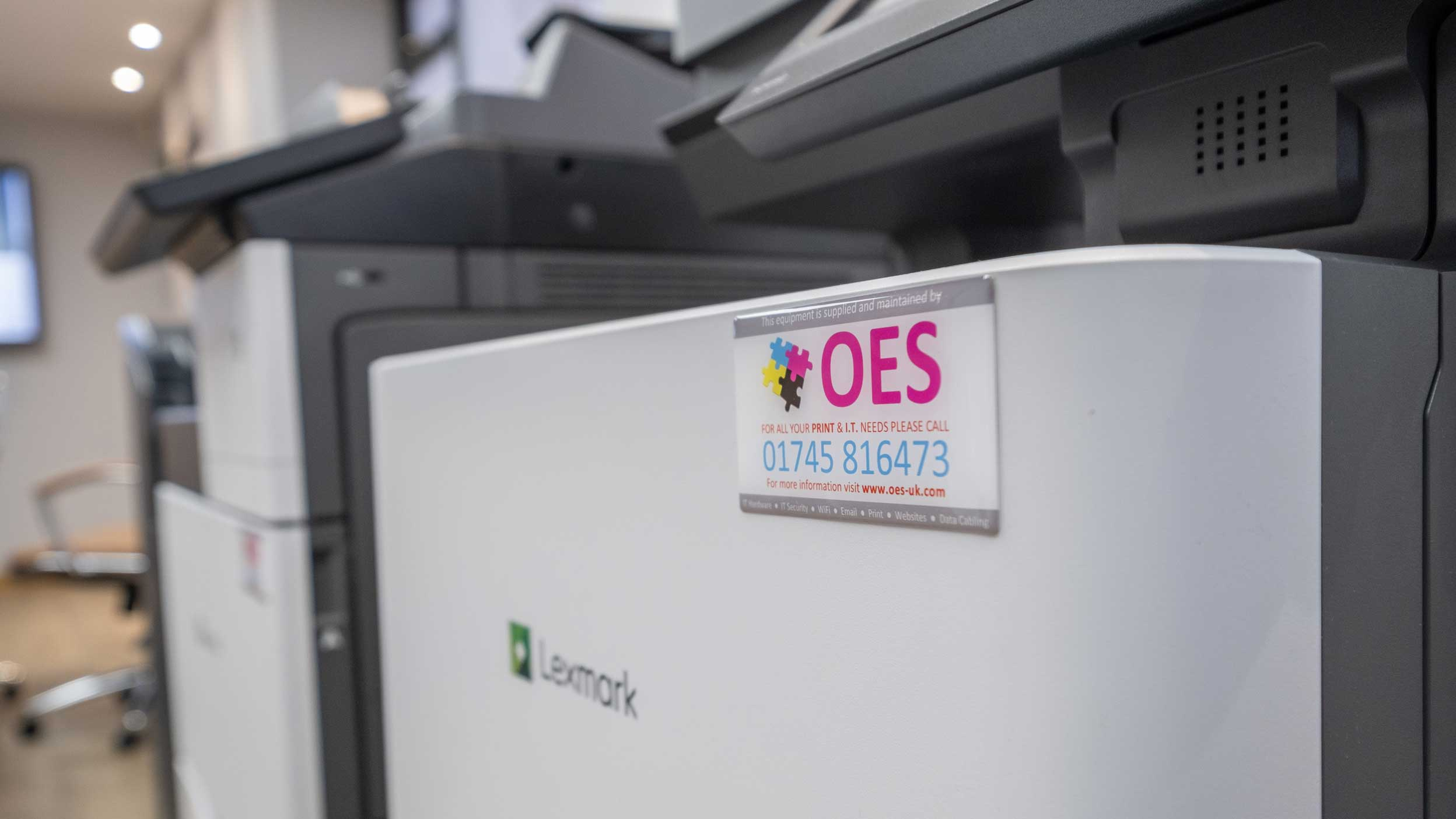 Close up of OES Lexmark Printer